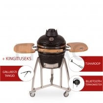 Patton Premium Kamado grill Bluetoothiga 16'' - LED käepide + KINGITUS