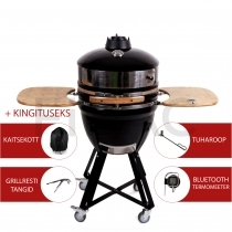 Patton Premium Kamado grill Bluetoothiga 21'' - Meat & Pizza Edition - LED käepide + KINGITUS