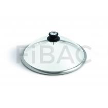 LotusGrill klaasist kaas termomeetriga